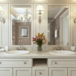 Bathroom Vanity with Mirrors